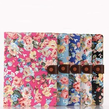NEW product!!! flower style wallet learher shell for air 2 with credit card and stand.
