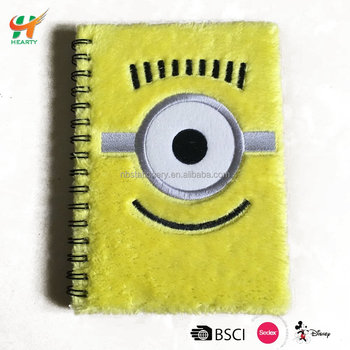 Cheap Plush Wiro Notebook for school with embroidery