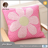 JINNUO Korean style cotton squar size cushion cover with applique and embroidery