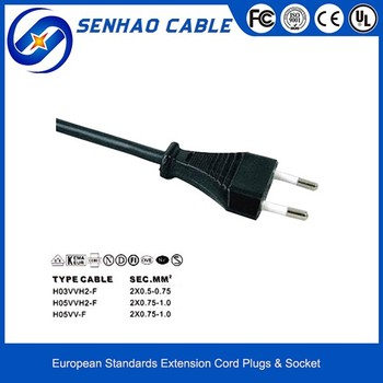 JT001 European Standard 2 Pin Power Plug
