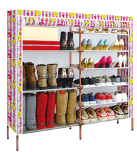 Hot Selling Double Row Shoe Rack Shelf Storage Closet Organizer