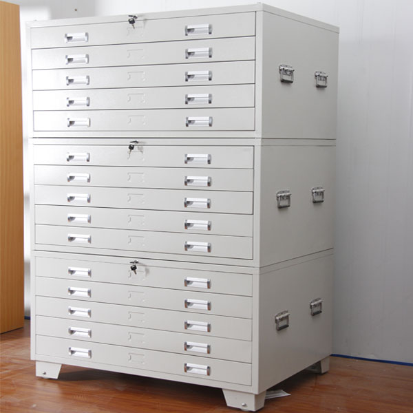 Dubai Type Steel Drawing File Cabinet A4 Movable Map