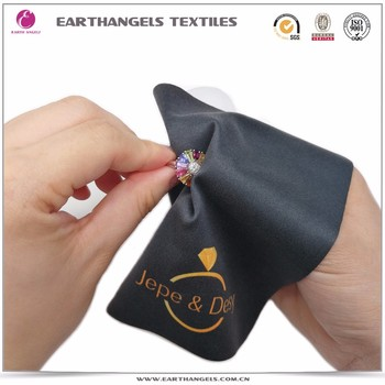 Custom Microfiber Jewelry Polishing Cleaning Cloth With Logo