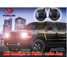 Powerful led headlight for jeep patriot with bracket with Emark certification