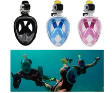Adult Safety Diving Mask Full face Snorkeling Mask Surface Diving Snorkel Scuba for Gopro