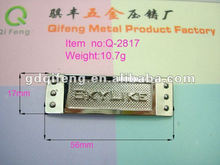 qifeng metal lables for shoes and bags