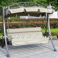 Modern adult swing chair with canopy, patio swing chair with cushion