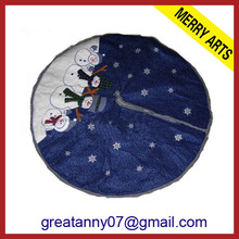 2013 cheap mini christmas primitive tree skirt decoration