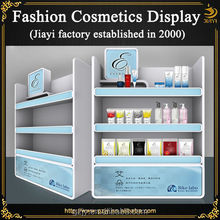 Hot selling fashion wood hair color display racks for cosmetic store furniture