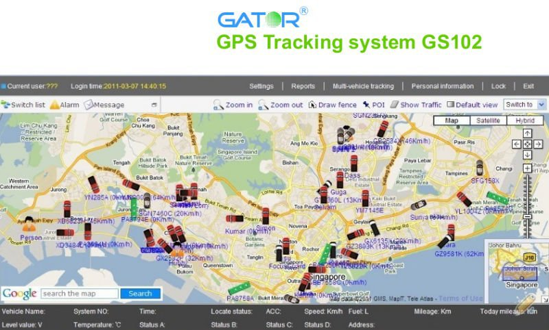 gps tracking system Screen Size and Mini GPS GSM Tracker Function Taxi management software gps tracking platform