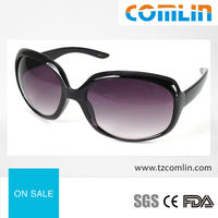 polarized women sunglasses with purple optical lens, custom logo