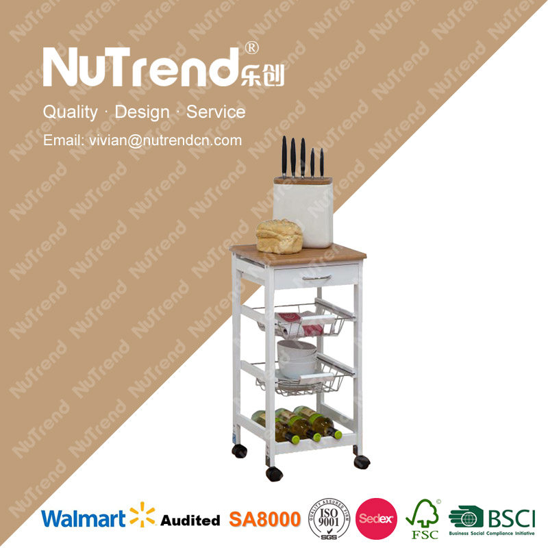 simple design simple furniture food trolley carts for sale