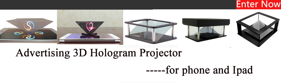 Universal cell phone 3D holographic projector 3d hologram advertising display stand projector for smartphone