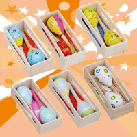 Wooden Musical Party Favor Kid Baby Shaker Sand Hammer Maracas wholesale