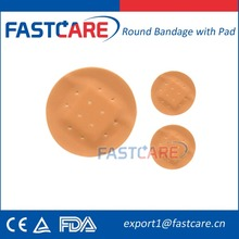 CE Sterile flexible round spot adhesive bandage/ plaster with strong glue