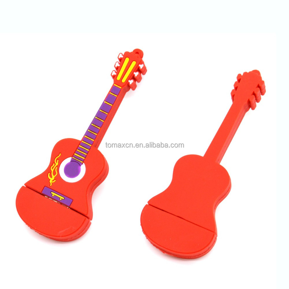 Hot Selling PVC cartoon guitar usb drive 1gb 2gb 4gb 8gb 16 GB USB 32gb