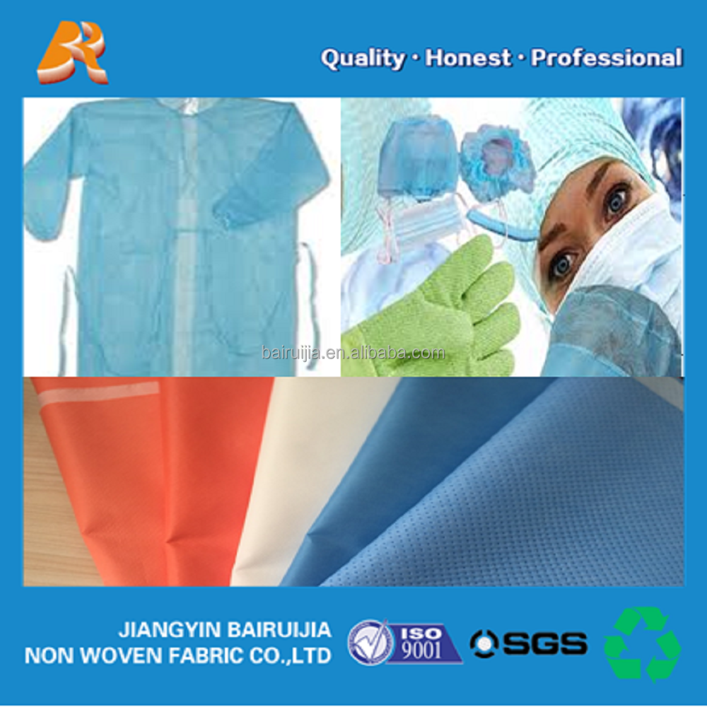 Hygiene surgical gown PP spunbond nowoven fabric in roll