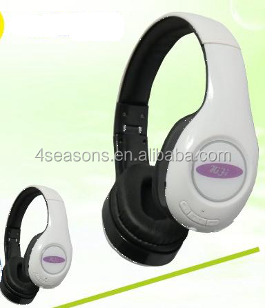 Bulk wholesale fashion Wired stereo bluetooth headset with microphone for mobile phone or ipod