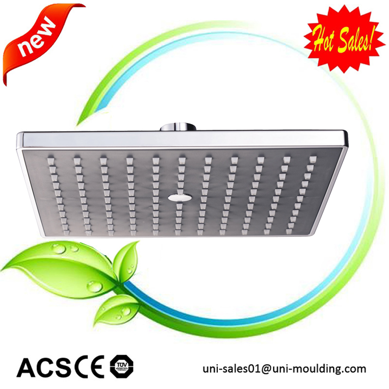 European style square mist waterfall shower head