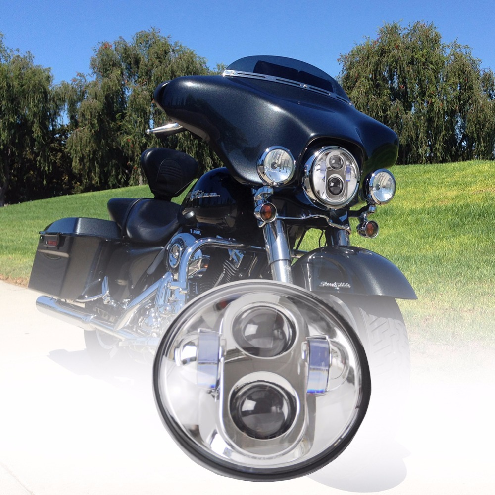 "60W 7inch Harley Round H4 H13 Driving 7"" LED Headlight for Harley Motorcycle"