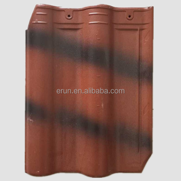 Jiangsu new design recycled tegula roof tile spanish clay roof tile