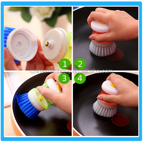 Plastic Pan Brush,Dish Washing Brush,House Kitchen Pot Brush Plastic Cleaning Brushes