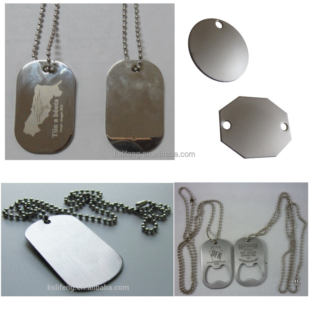 bulk cheap personalized dog tags jewelry stainless steel tag