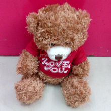 Cute love heart T-shirt 25cm stuffed plush bear teddy for gifts