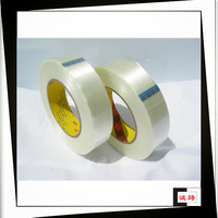 Heat Resistant Clear Glass Filament Adhesive Tape For Metal