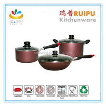 2016 New inventions aluminium imusa collapsible silicone cookware,microwave nonstick cookware,living stone marble cookware