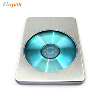 metal tin DVD case with window