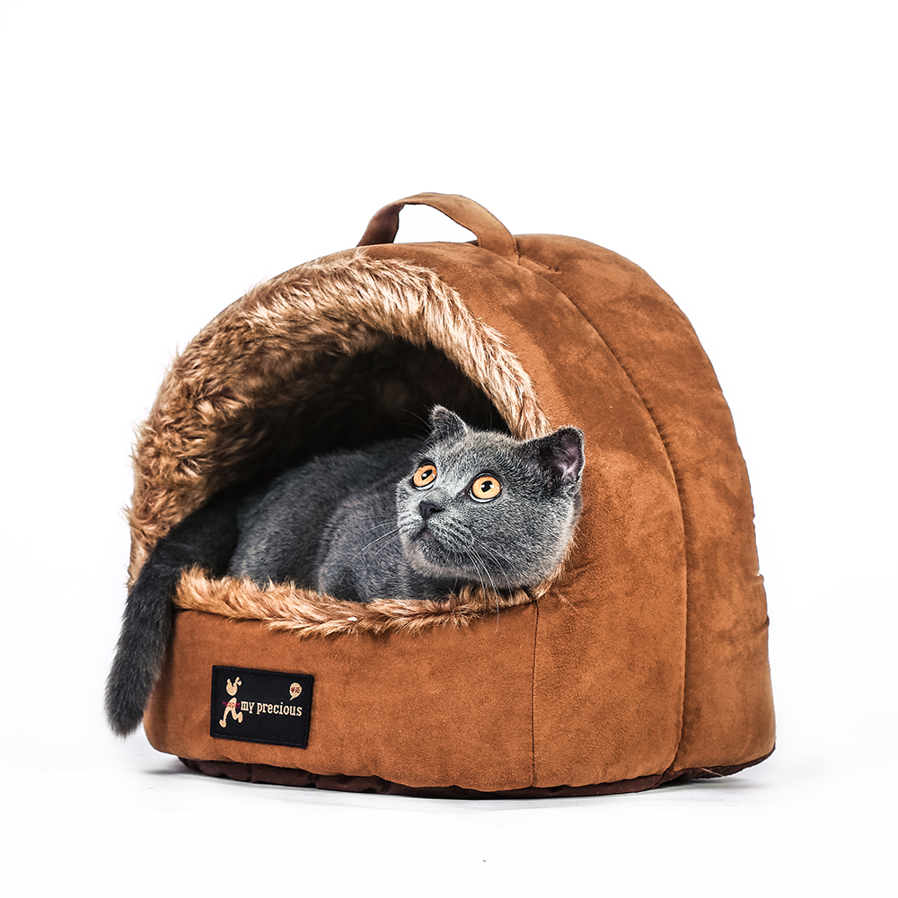 New Style Soft Plush Pet Bed House for Cats
