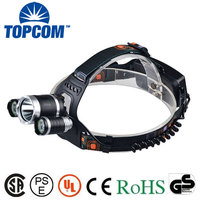 Rechargeable Waterproof Headlamp 1800Lumen 4 Modes Handsfree Headlamp Outdoor Headlamp(50038)