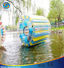 Inflatable water roller for adults, roll inside inflatable ball, outdoor water roller
