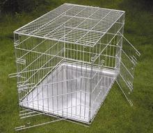 high quality foldable two door large metal stainless steel pet cage