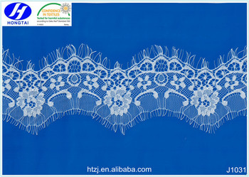 2016 New Product Black Mesh 3d Flower Eyelash Lace Embroidered Fabric
