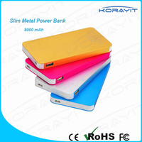 Portable Ultra Slim Power Bank 8000mAh for iPhone / Samsung Galaxy