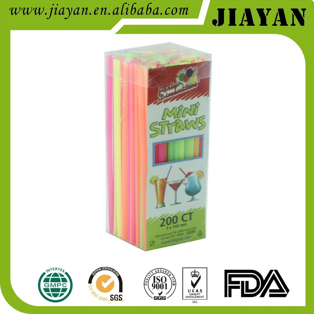 2016 latest jiayan colored flexible drinking straw