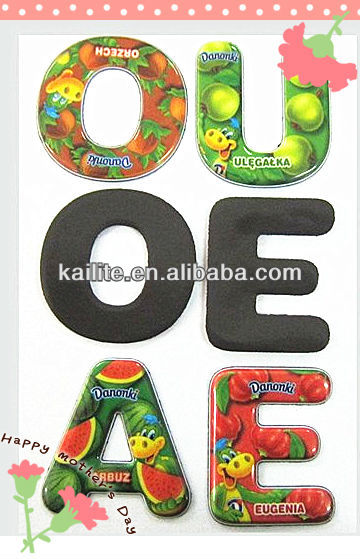 Epoxy Alphabet Fridge Magnets