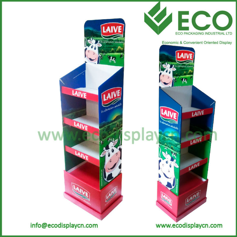 Custom Display Board Free Standing Floor Display Milk Powder Display Stand