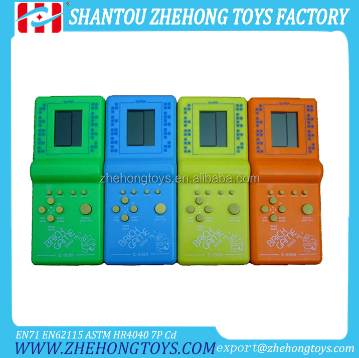 Solid Color Handheld Game Players Tetris E9999-1 Brick Game