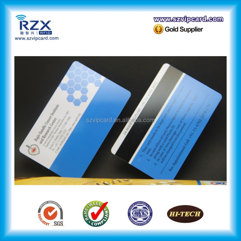 Real store loyalty card system CR80 standard pvc blank magnetic strip card wholesale