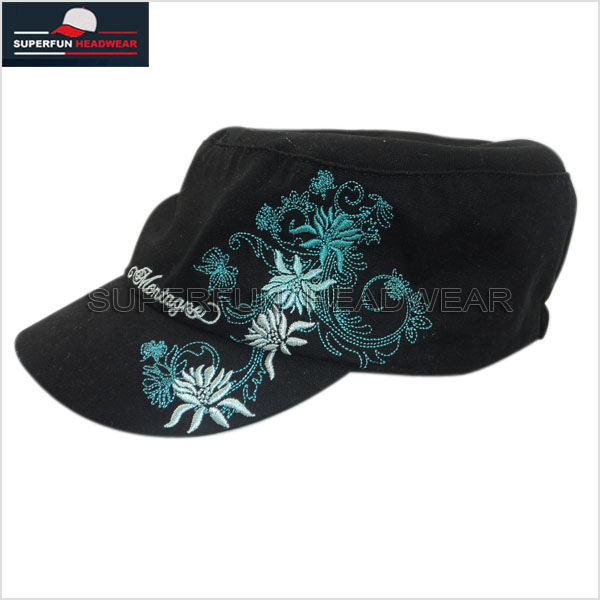 2014 new style beautiful women military caps hats