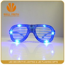 Cheap plastic multi color flashing shutter shade led party sunglasses