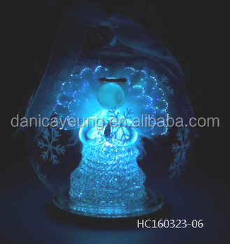 Popular hanging led color changing light balls with angel inside