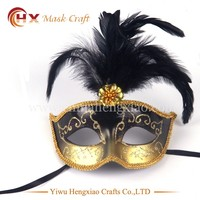 New 2016 mardi gras mask feather party masks for sale