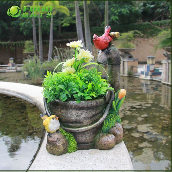 Resin animal round planter pot for garden decor