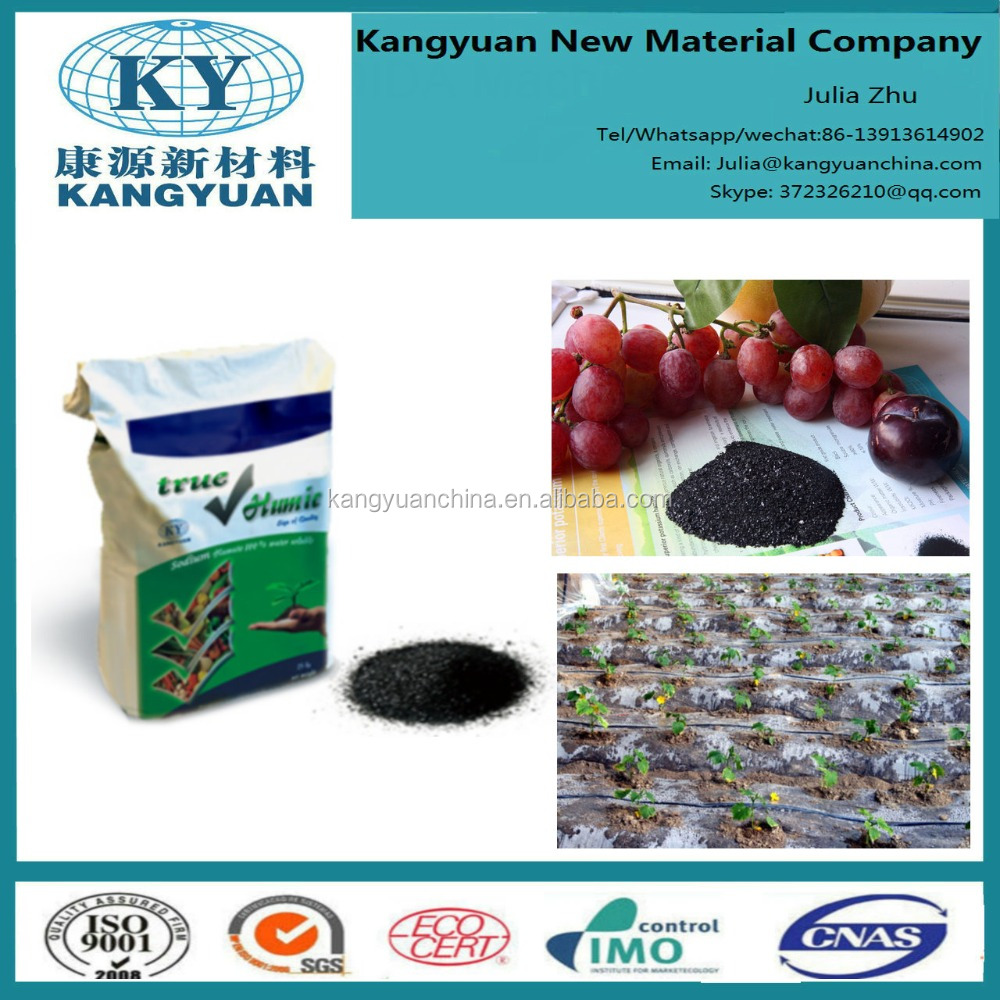 leonardite source humic acid + fulvic acid +K2O potassium fulvate shiny flake for agricultural