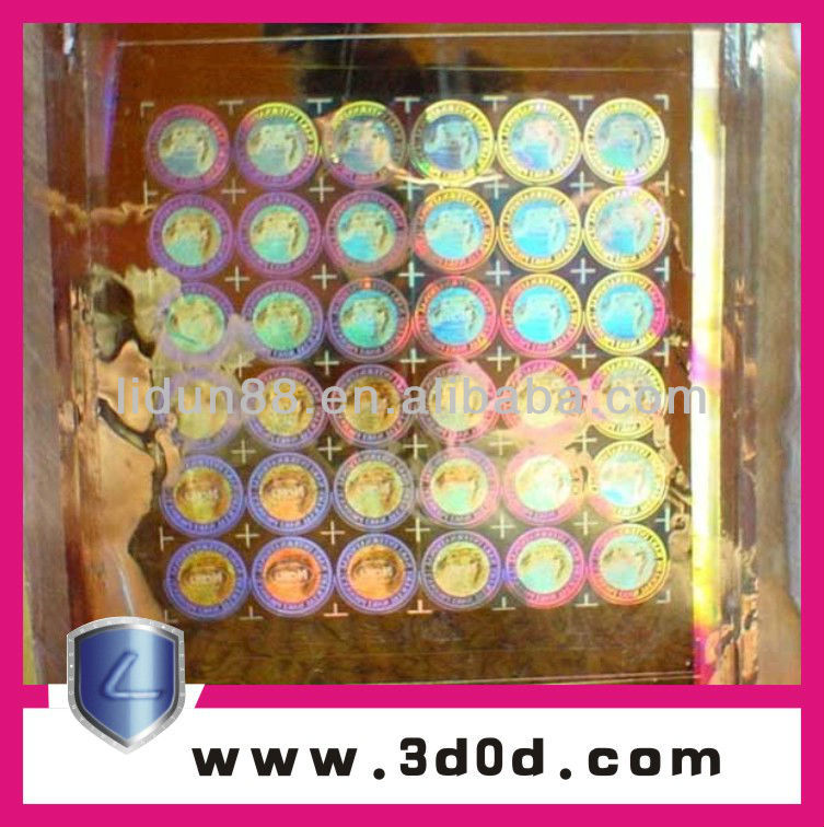 High quality 3D hologram sticker/dynamic picture