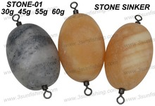 Fishing sinker high quality marble stone sinker